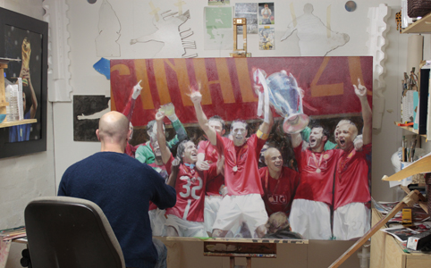 image of Kevin Leary painting Rio Ferdinand